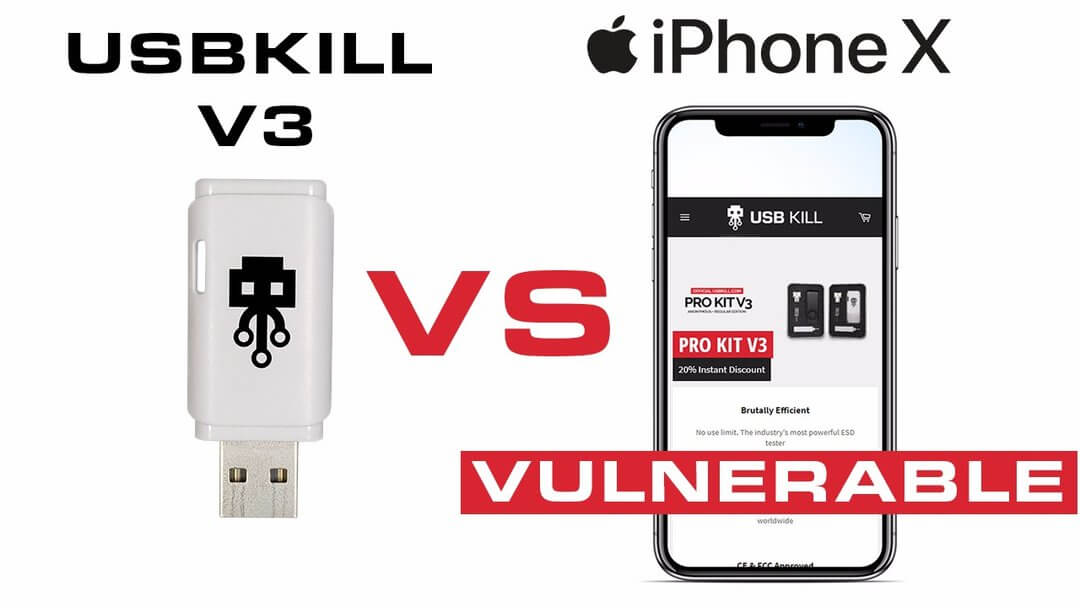 USB Kill v3 VS iPhone X